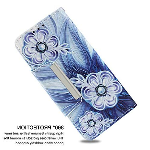 Badalink 8 Case Wallet, Flip Cover Painting Leather Skin Shell Wristlet Slots /