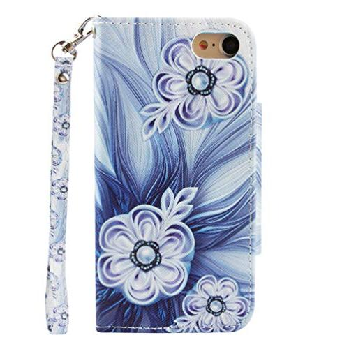 Badalink iPhone Wallet, Flip Painting Soft Leather Skin Shell Wristlet Strip Card Slots for / iPhone