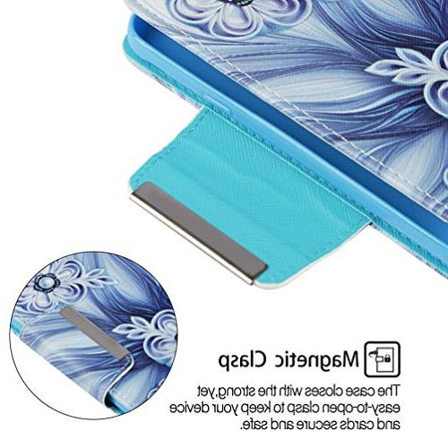 Badalink Wallet, iPhone Flip Cover Color Painting Soft Skin Kickstand Shell Strip Card Slots for / iPhone 8