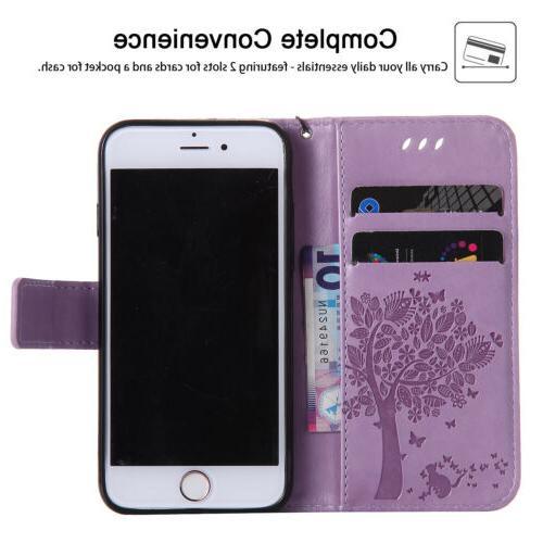 For iPhone SE 2nd Gen 2020 Magnetic Leather Wallet Flip Case