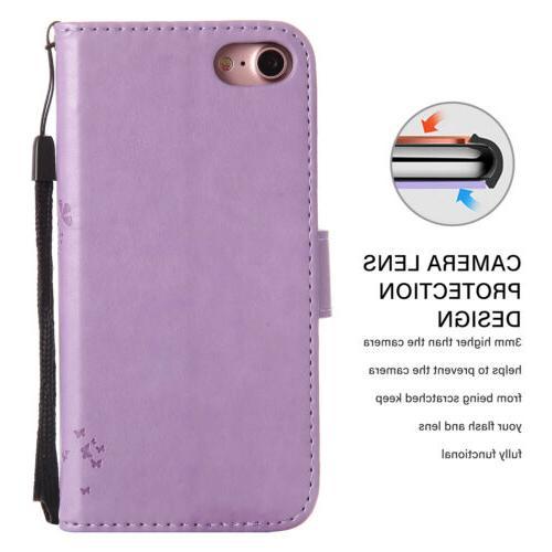 For SE 2nd Gen Magnetic Wallet Flip Phone Case Cover