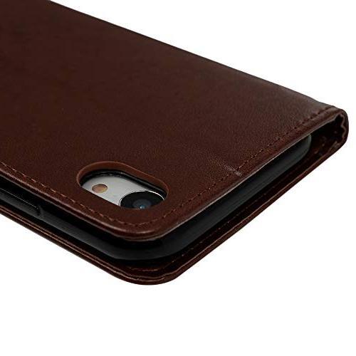 Case, Wallet Flip Leather Cover Soft Shell Slot Pen 6.1 2018 - Brown