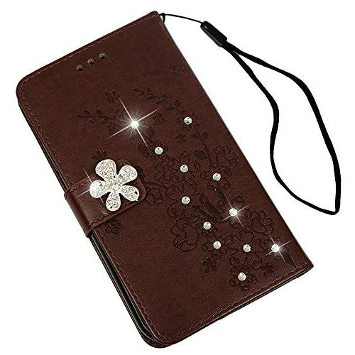 Badalink Xr Case, iPhone Xr Case Wallet Flip Leather Cover Soft TPU Shell Card Slot Pen for 6.1 Brown