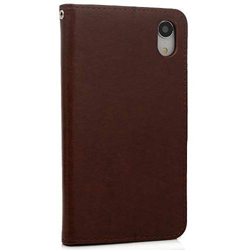 Badalink iPhone Xr 6.1 Case, iPhone Xr Wallet Kickstand Cover Diamond Plum Soft TPU Shockproof Magnetic Shell Pen 6.1 -