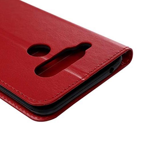 LG Case, LG V40 Wallet Flip Kickstand Leather Absorption Closure for V40 V40 by