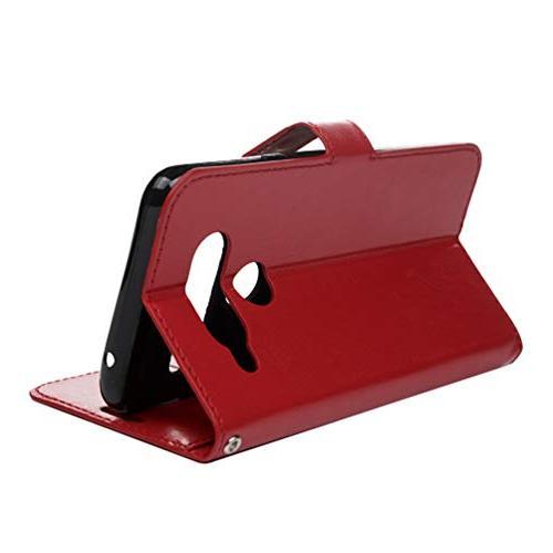 LG ThinQ LG V40 Wallet Flip Simple Kickstand Leather Shock Absorption Skin Closure V40 Storm/LG by
