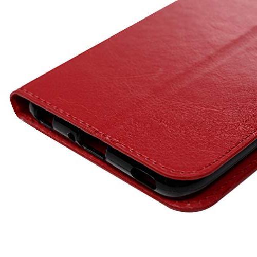 LG LG Flip Simple Lines Kickstand Leather Cover Shock Closure Shell V40 Storm/LG by Badalink