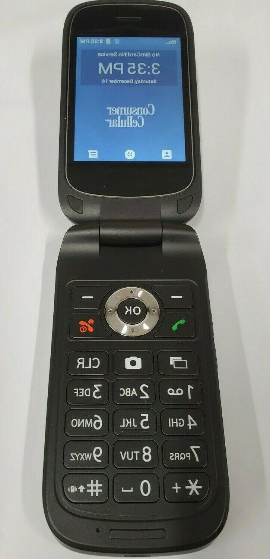 link flip phone gray z2332cc 4g gsm