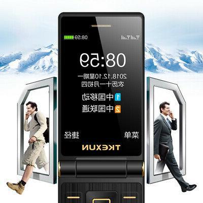 + Flip Mobile Phone Loudspeaker Screen 3.0 Inch Dual SIM