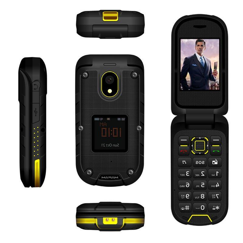 M838 Three-Prevention Flip Phone Rugged Waterproof Dual Display