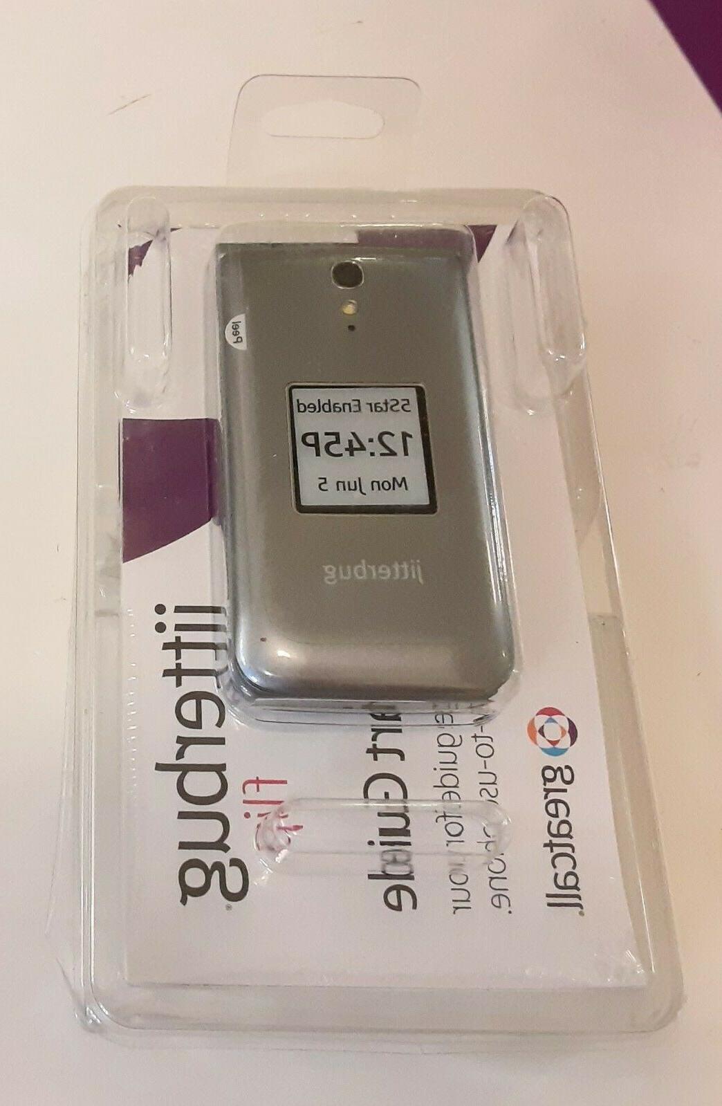 NEW Jitterbug Greatcall Grey Flip Big Cell Phone