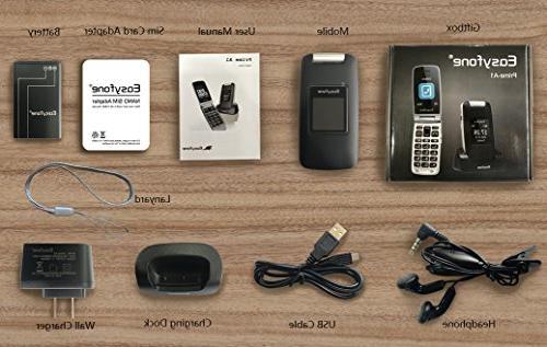 Easyfone 3G Unlocked Senior Phone, Big Aids Phone with