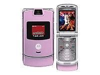 Motorola RAZR V3m Pink  Cellular Phone