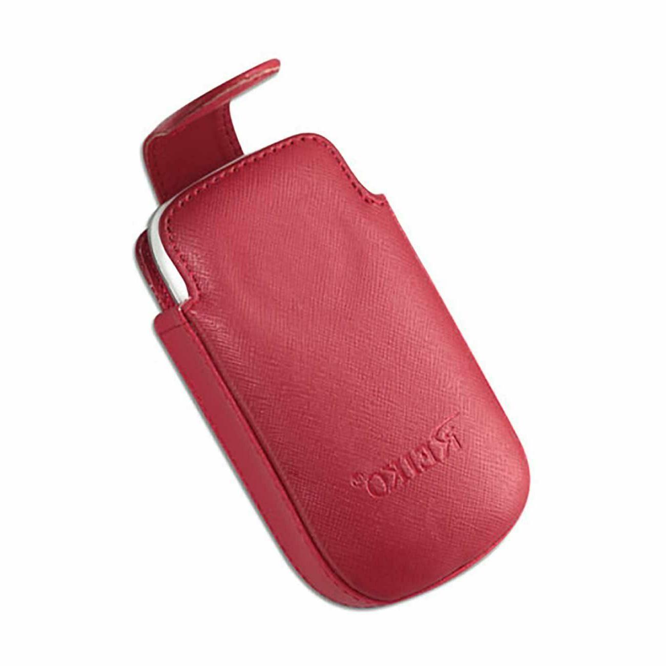 Red Leather fits SC729 Senior flip phone