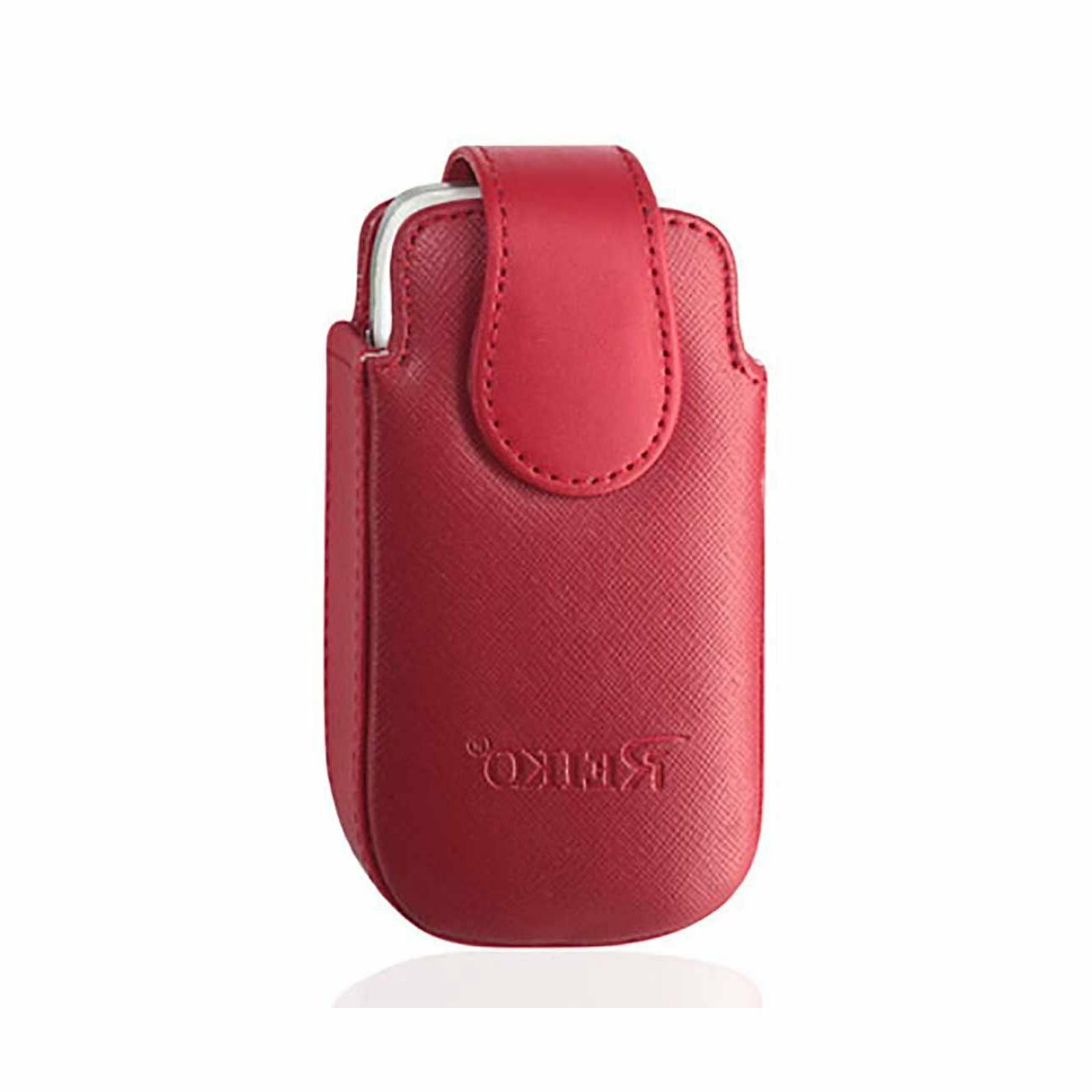 red leather case vertical fits jethro sc729