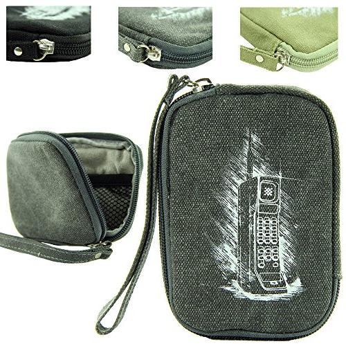 retro soft canvas carrying case