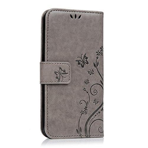 Case - BADALink Wallet Leather Embossed Flowers Cover 3D Plug Pen -