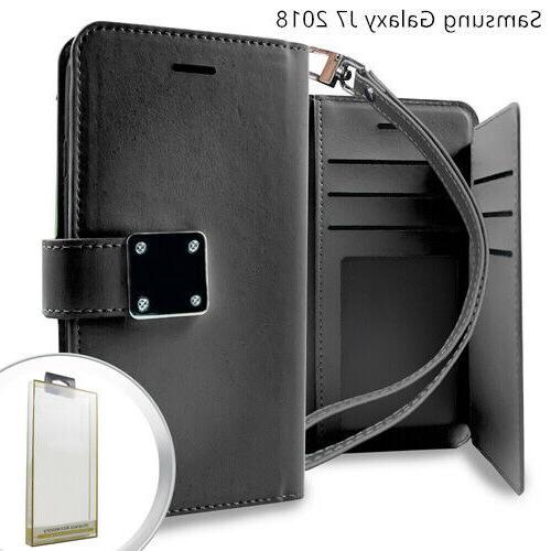 Samsung GALAXY J7 2018 Star Refine Phone Leather Flip Wallet