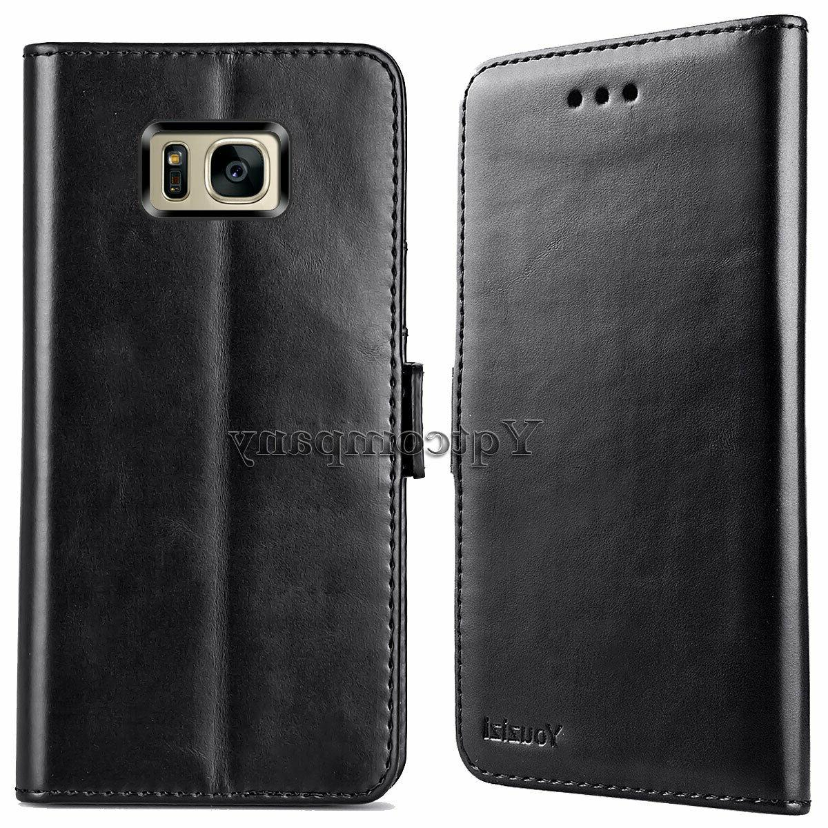 For S7 Card Wallet Flip Cover Pouch