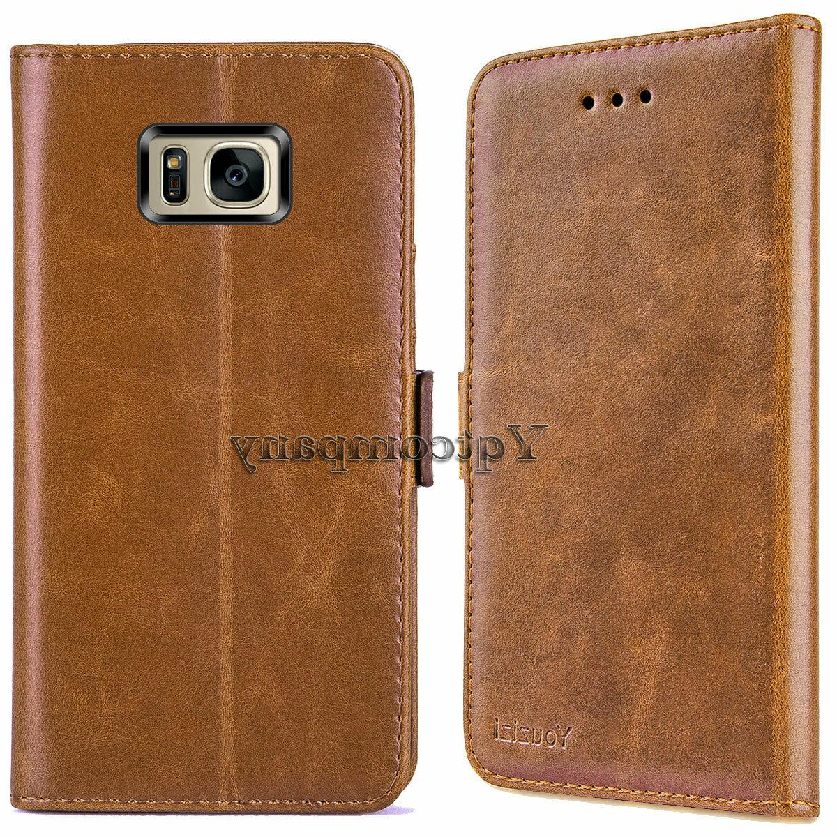 For Galaxy S7 Edge Case Leather Card Flip Cover
