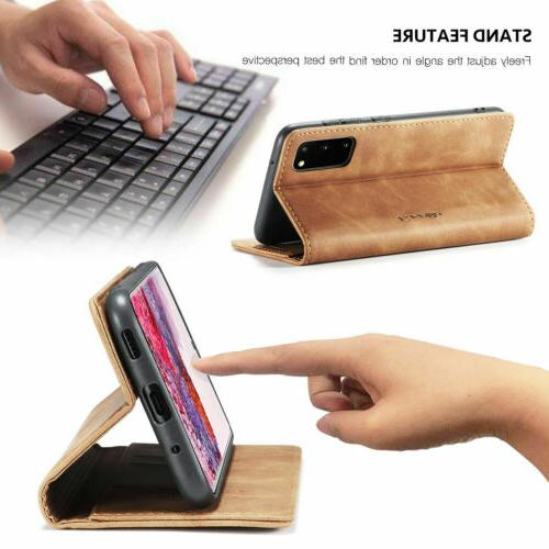 For S20 Note10 S10 S8 Leather Phone Cover