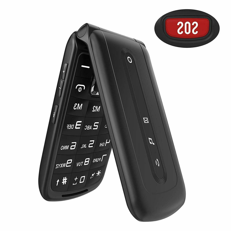 Ushining Unlocked Flip Phone 2G Dual SIM Dual Standby Big Bu