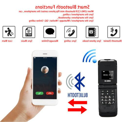 Unlocked Black Mini Smallest Flip Bluetooth