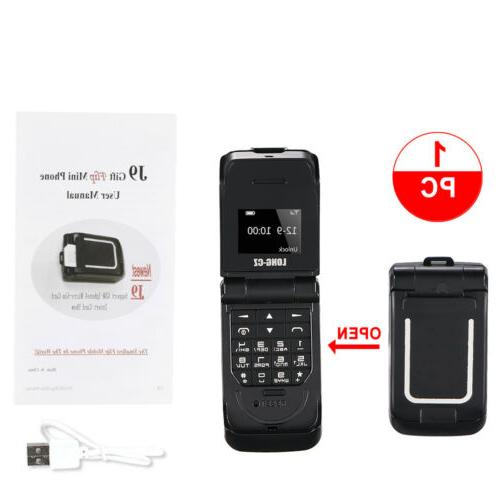 Unlocked Black World Mini Smallest Flip Mobile Phone Bluetoo