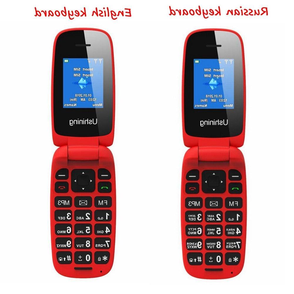 Unlocked Feature Senior <font><b>Flip</b></font> <font><b>Phones</b></font> Keypad 2G <font><b>GSM</b></font> Push Button Key Cellphone