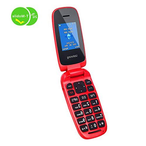 Ushining Flip Phone for Seniors,Easy-to-Use,Long time,T-Mobile Card