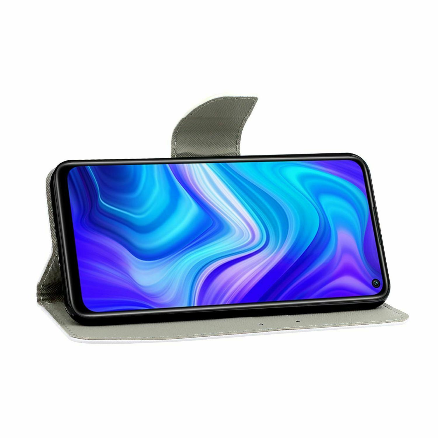 For Redmi 9 Case Wallet Flip Card Stand Cover