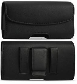 Leather Case With Belt Clip & Loop for Verizon Kyocera Caden