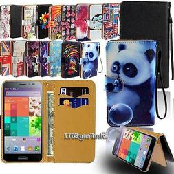 Leather Flip Card Wallet Stand Cover Case For Various Pantec