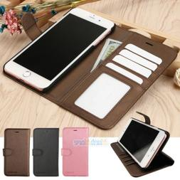 Leather Flip Wallet Phone Case Stand Cover+Screen Protector