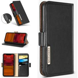 Leather Folio Flip Wallet Case Stand Cover For Apple iPhone
