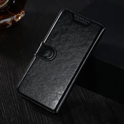 Leather <font><b>Flip</b></font> Wallet Cover Case For <font
