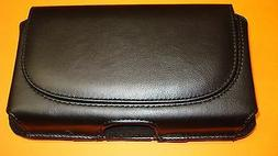 Leather Pouch Case W/Clip GreatCall JITTERBUG RED/GRAY FLIP