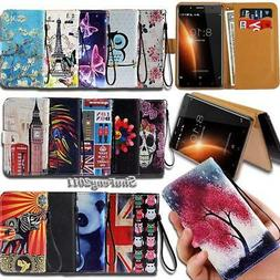 Leather Wallet Card Stand Flip Case Cover For BlackBerry Evo