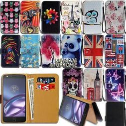 Leather Wallet Card Stand Flip Case Cover For Motorola One/P