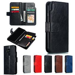 Leather Wallet Flip Case Phone Cover Skin For Samsung Galaxy