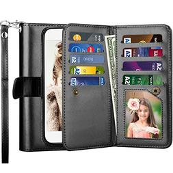 Njjex for LG Aristo Wallet Case, for LG Fortune/LG MS210/LG