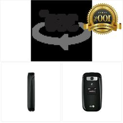 LG B470 AT&T Prepaid Basic 3g Flip Phone, Black - Carrier Lo