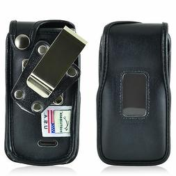 LG Exalt 2 VN370 Flip Phone Case Turtleback Black Leather Re