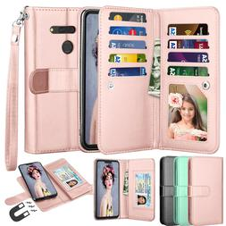 For LG G8 2019 / G8 ThinQ Phone Case Leather Wallet Flip Car