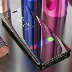 For LG G8 ThinQ Phone Case Luxury Ultra Slim Mirror Flip Sta