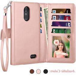 LG Stylo 3 / Stylus 3 Plus Luxury PU Leather Wallet Case Car