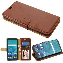 For LG Stylo 4 Leather Flip Wallet Phone Case Protector Cove