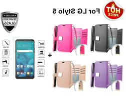 For LG Stylo 5 / 5 Plus Leather Wallet Phone Case Cover Flip