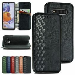 For LG Stylo 6 Luxury Retro Leather Magnetic Flip Wallet Sta