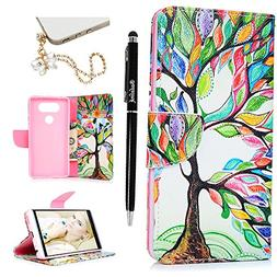 Badalink LG V20 Wallet Case  Flip Folio Kicktand Case PU Lea